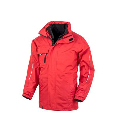 Result Core Mens Printable 3-In-1 Transit Jacket (Red) - UTPC2639