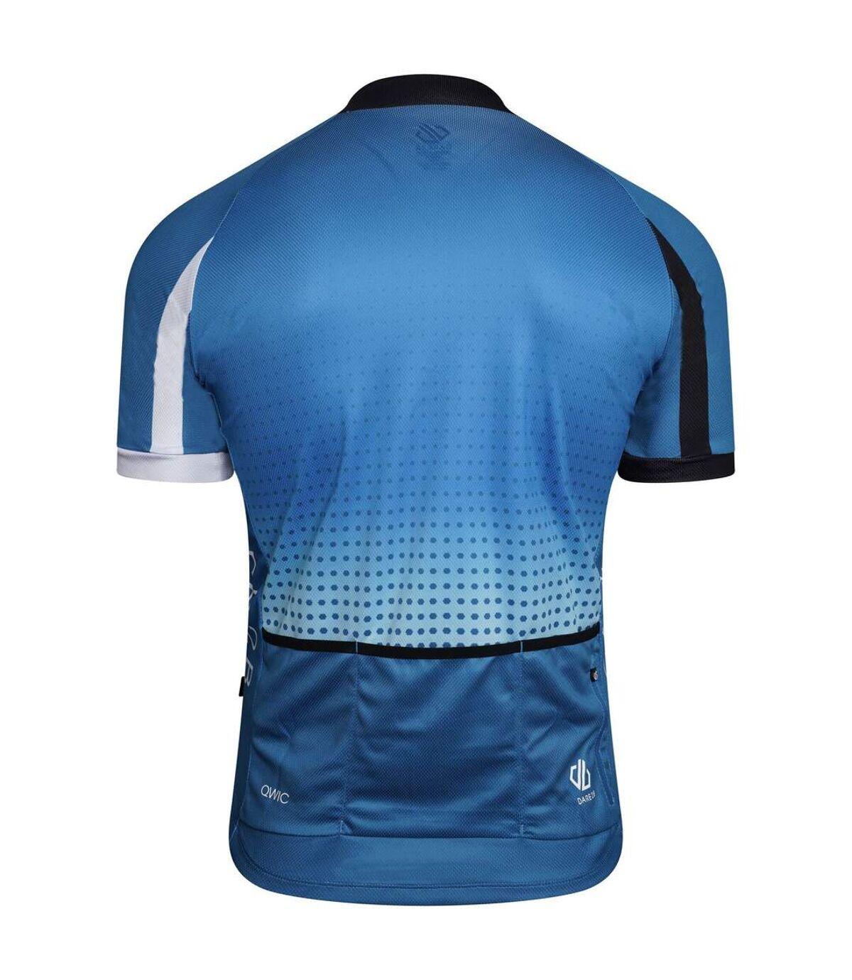 Dare 2B Mens Virtuosity Short-Sleeved Jersey (Petrol Blue/Black/White Gradient) - UTRG5835