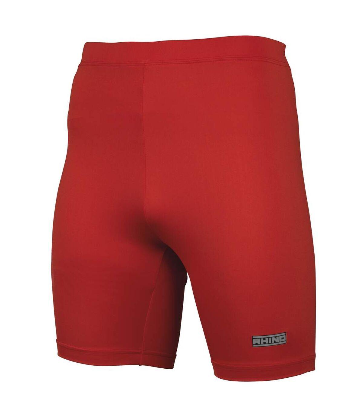 Rhino Mens Sports Base Layer Shorts (Red) - UTRW1278