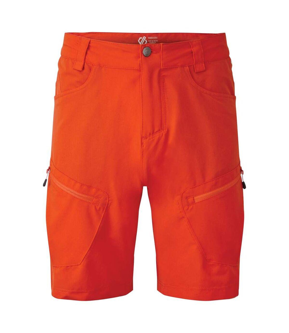 Dare 2B Mens Tuned In II Multi Pocket Walking Shorts (Trail Blaze Red) - UTRG4078