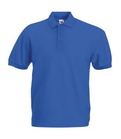 Fruit Of The Loom Mens 65/35 Pique Short Sleeve Polo Shirt (Royal) - UTBC388