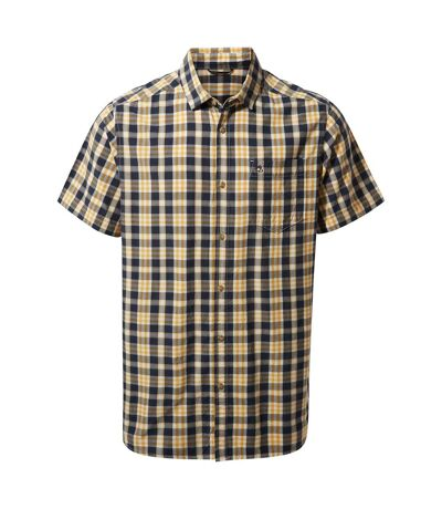 Craghoppers Mens Jose Short Sleeved Shirt (Steel Blue Check) - UTCG1360