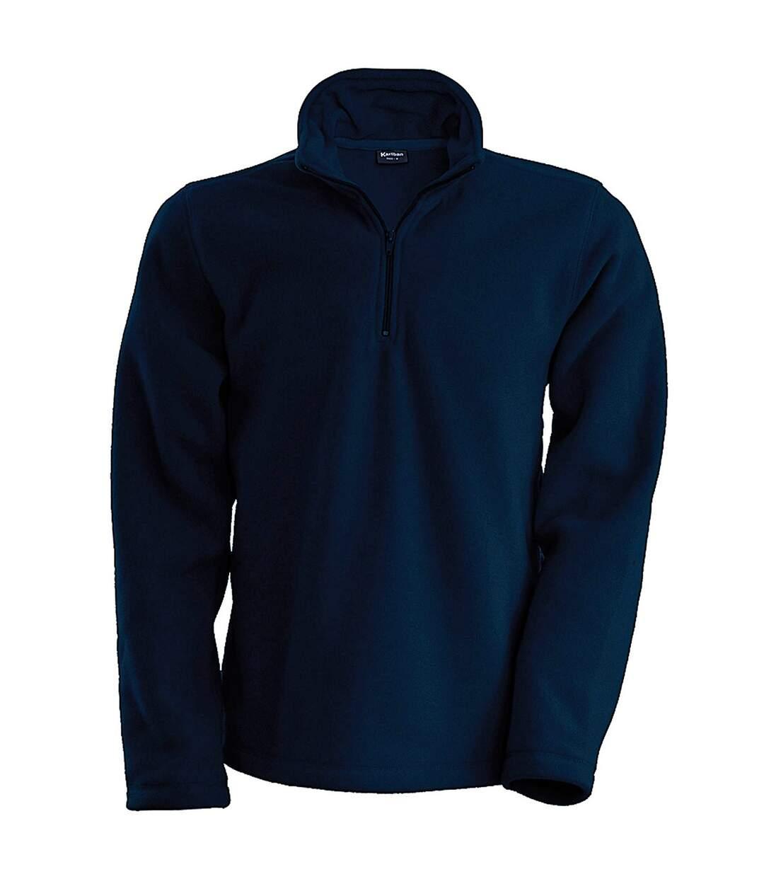 Kariban Mens Enzo 1/4 Zip Fleece Top (Navy) - UTRW738