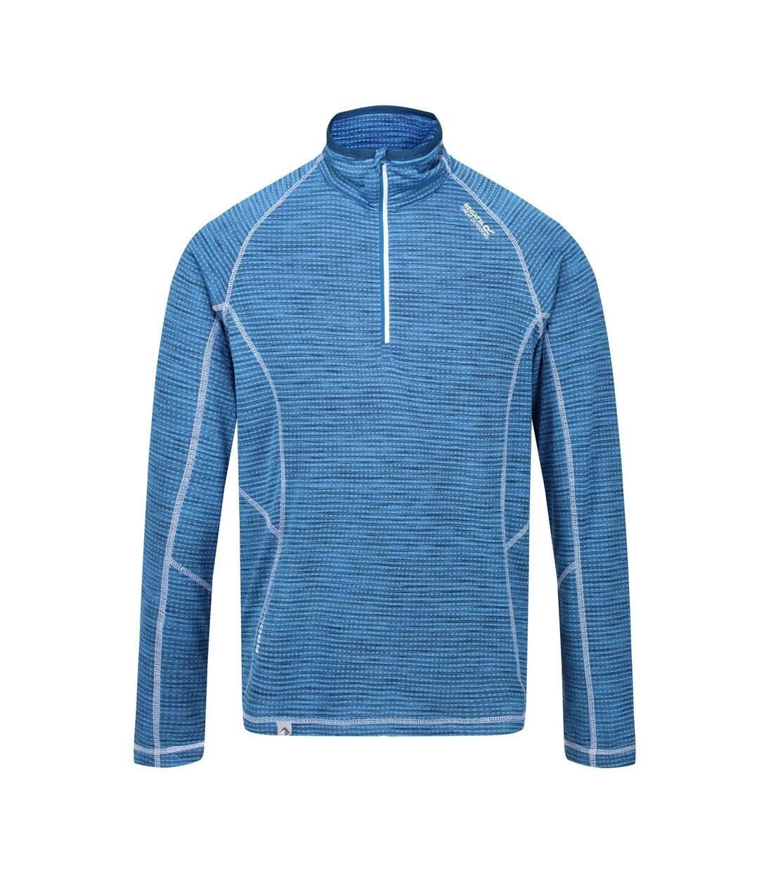 Regatta Mens Yonder Quick Dry Moisture Wicking Half Zip Fleece Jacket (Imperial Blue) - UTRG3786