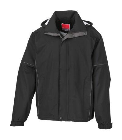 Result Mens Urban Outdoor Lightweight Technical Jacket (Waterproof & Windproof) (Black) - UTRW3244