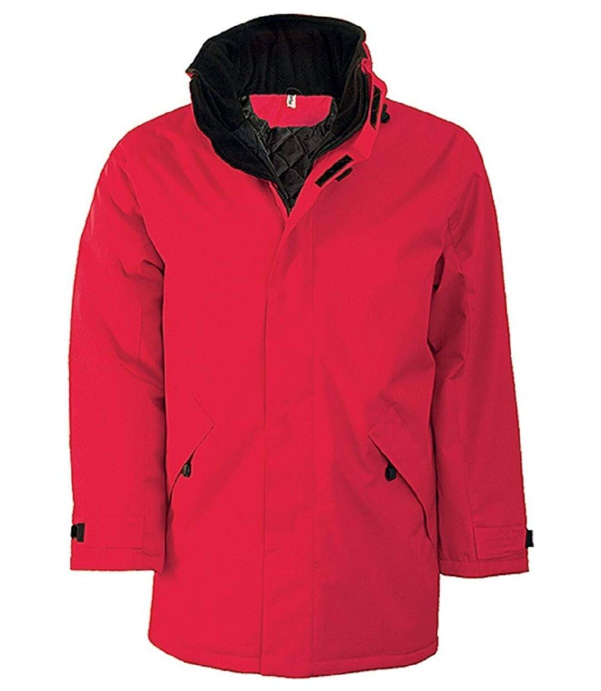 Parka Homme doublure matelassée - K677 - rouge