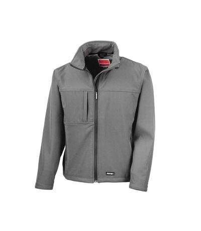 Result Mens Classic Softshell Breathable Jacket (Grey) - UTBC857