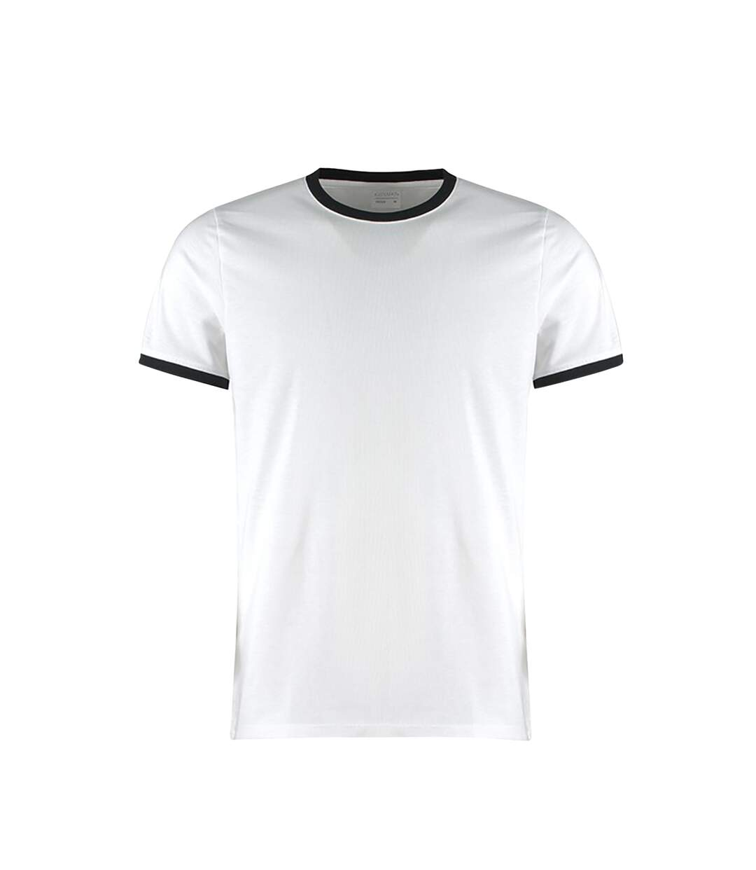 Kustom Kit Mens Fashion Fit Ringer T-Shirt (White/Black) - UTPC3837