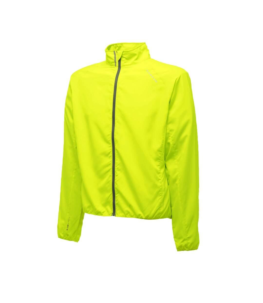 Dare 2B Mens Fired Up Lightweight Showerproof Windshell Jacket (Fluro Yellow) - UTRG223