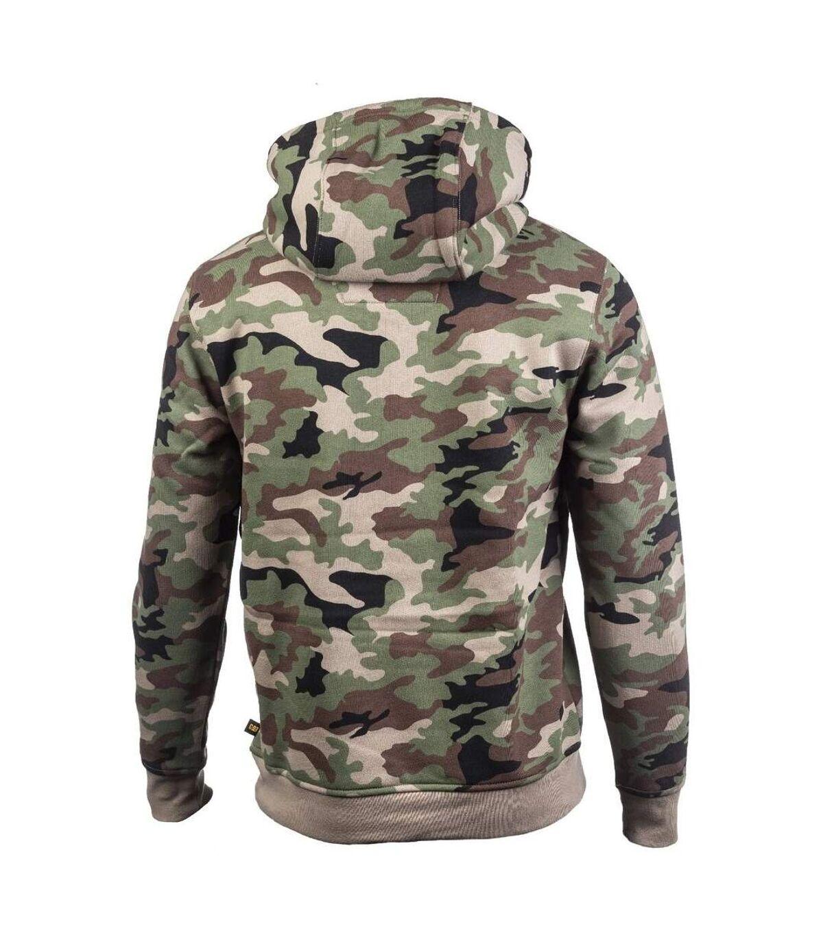 Caterpillar Mens Trademark Hooded Sweatshirt (Woodland Camo) - UTFS4646
