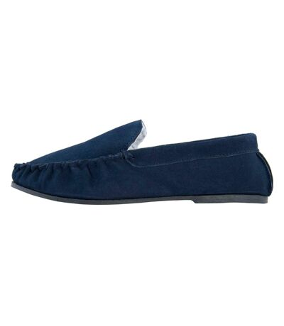 Eastern Counties Leather Mens Berber Fleece Lined Suede Moccasins (Navy) - UTEL174