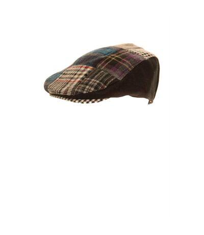Casquette plate à motif patchwork - Homme (Noir) - UTHA254