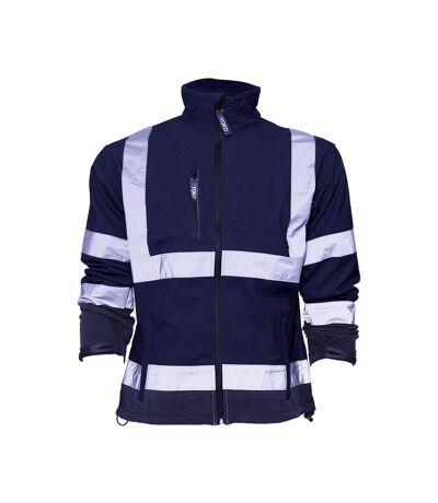 Yoko Mens Hi-Vis Sofshell Jacket (Pack of 2) (Navy Blue) - UTBC4393