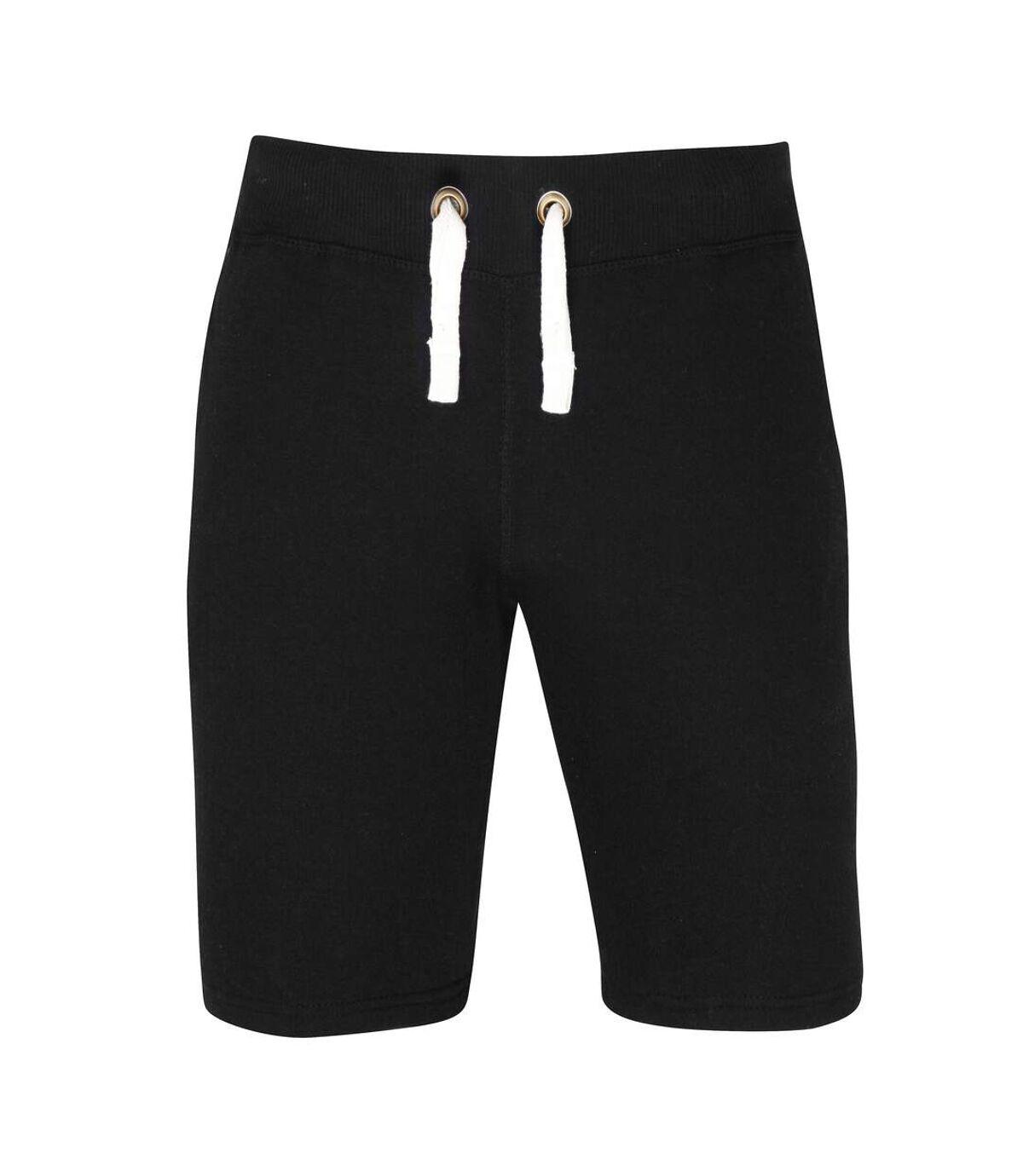 AWDis Hoods Plain Heavyweight Campus Shorts (Jet Black) - UTRW2549
