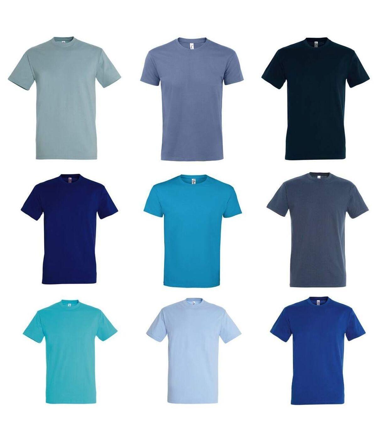 Lot 9 t-shirts manches courtes - Homme - dégradé de bleu