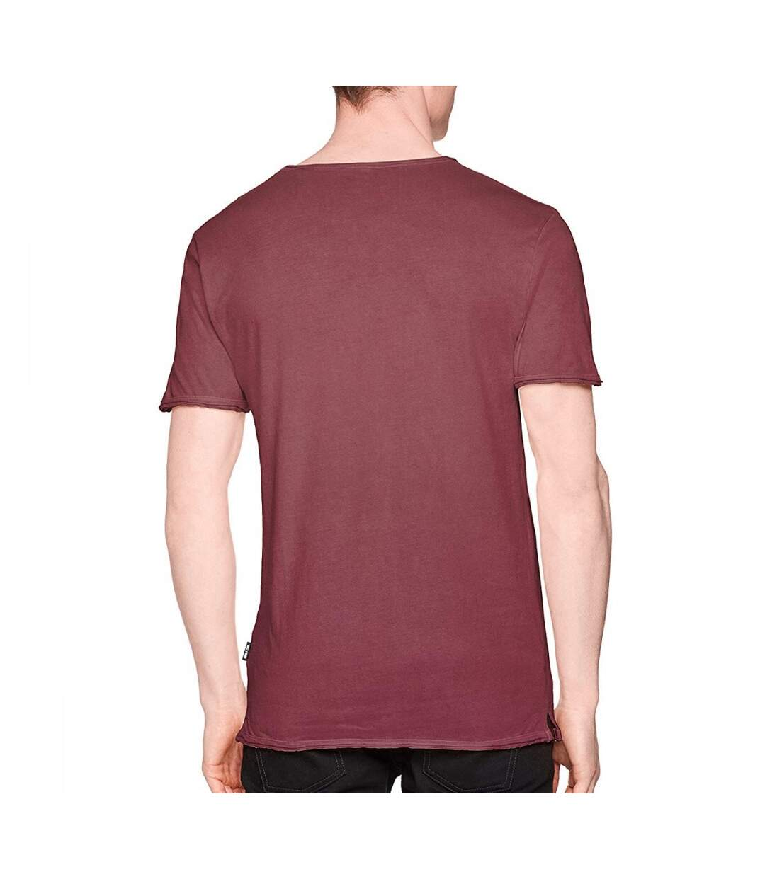 T-Shirt Bordeaux Homme Only & Sons