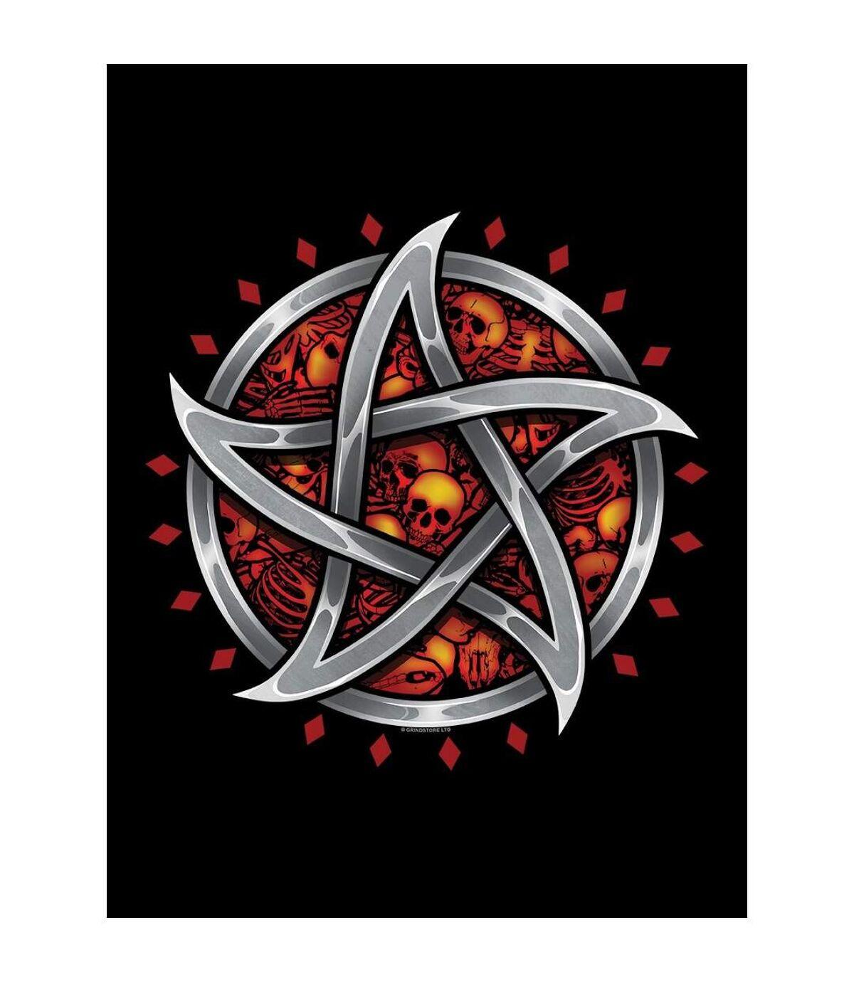 Grindstore Mens Satans Pentagram Hoodie (Black) - UTGR3945