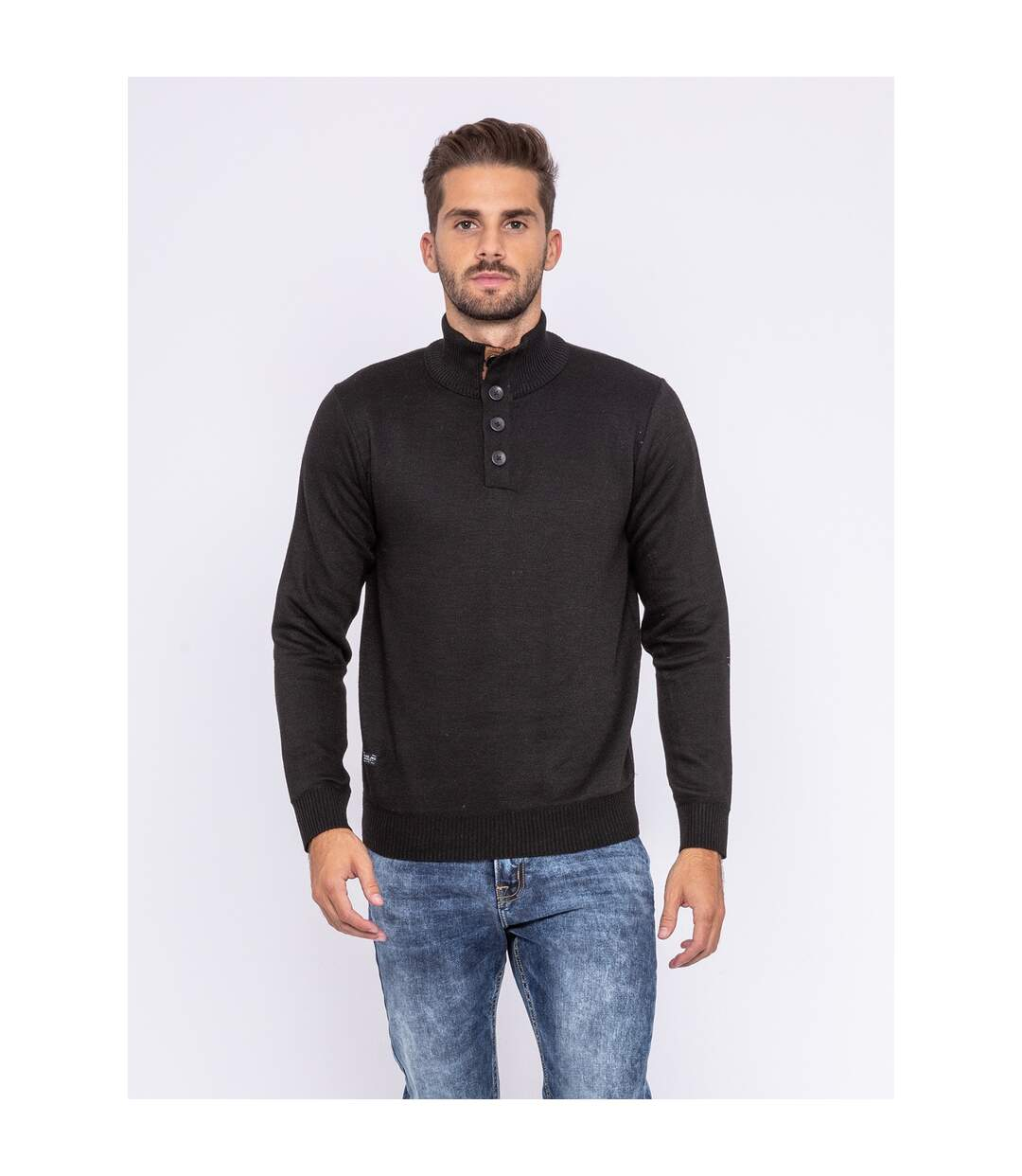 Dégagement Pull col montant boutons LULITE RITCHIE dsf.d455nksdKLFHG