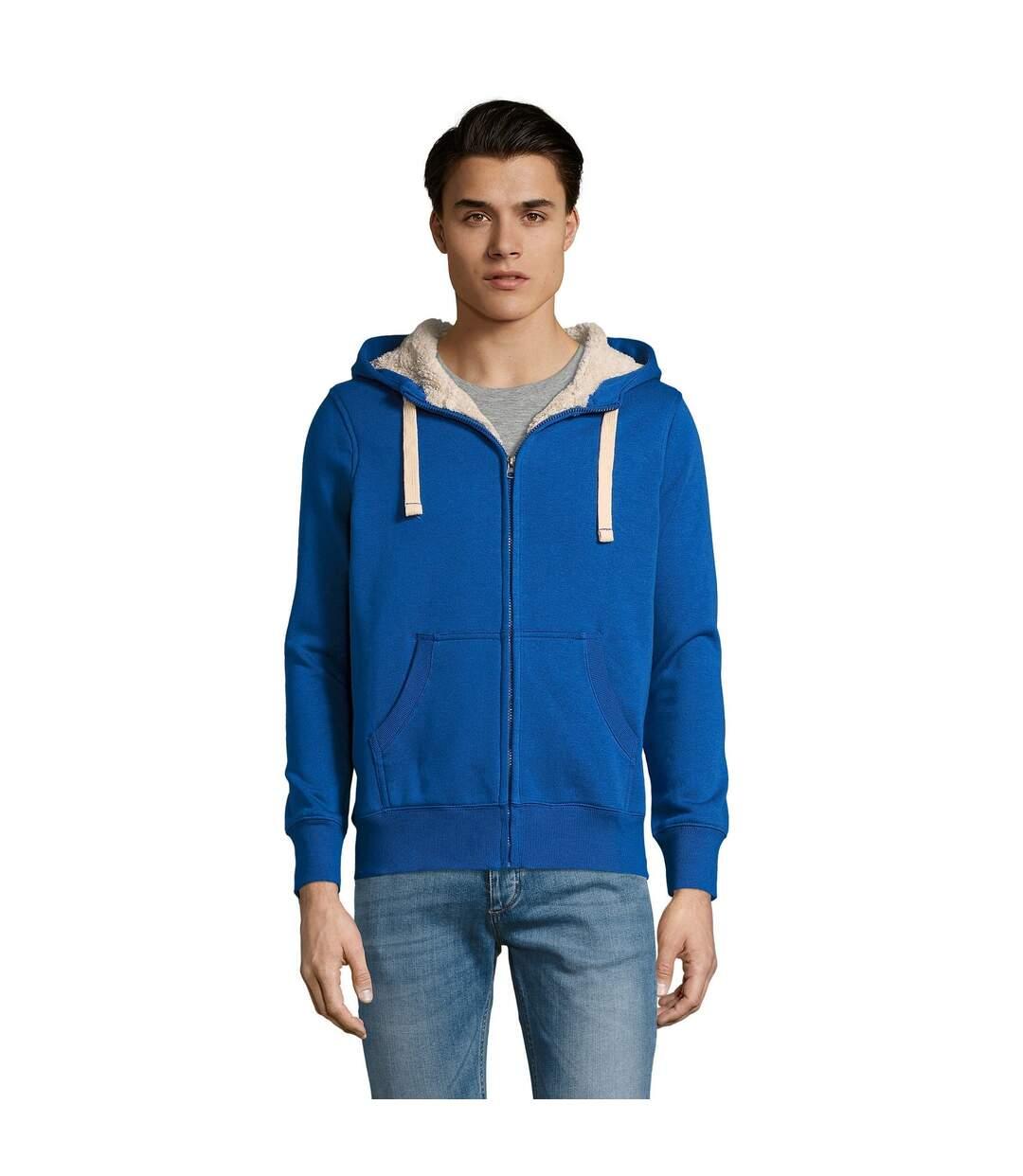 SOLS Sherpa Unisex Zip-Up Hooded Sweatshirt / Hoodie (Royal Blue) - UTPC512