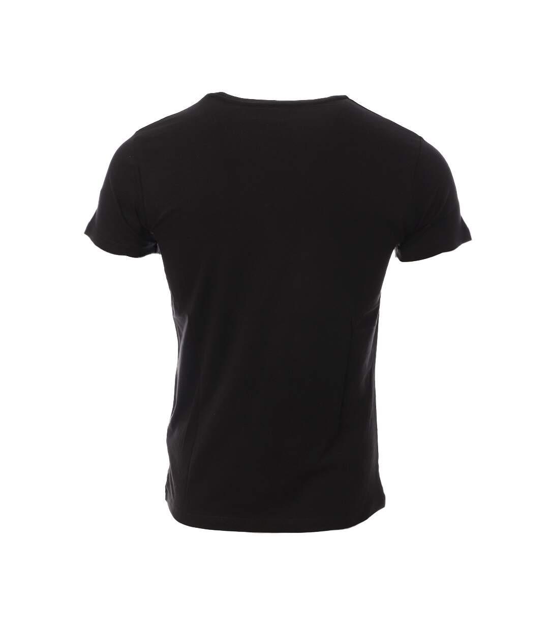 T-shirt Noir Homme Schott Salvin