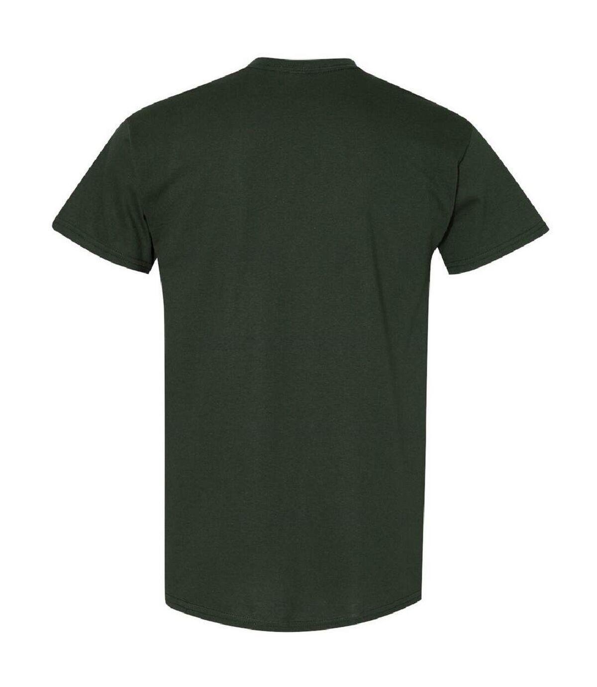 Gildan Mens Heavy Cotton Short Sleeve T-Shirt (Forest Green) - UTBC481