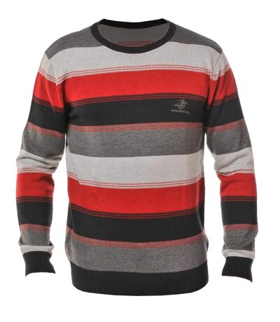 PERFECT1T PULL COL ROND ROUGE/NOIR/GRIS
