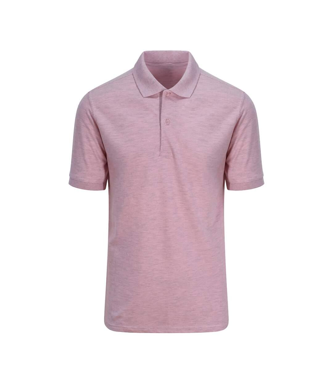 AWDis Just Polos Mens Surf Melange Pique Polo Shirt (Surf Pink) - UTPC3589