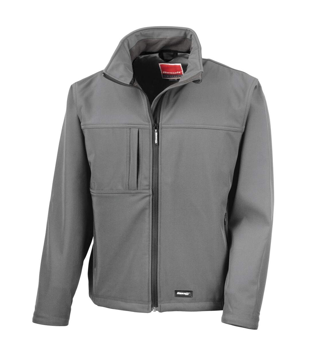 Result Mens Softshell Premium 3 Layer Performance Jacket (Waterproof, Windproof & Breathable) (Grey) - UTBC2046