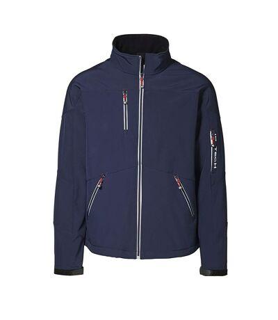 ID Mens Contrast Regular Fitting Soft Shell Jacket (Navy) - UTID352
