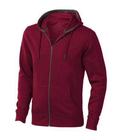 Elevate Mens Arora Hooded Full Zip Sweater (Burgundy) - UTPF1850