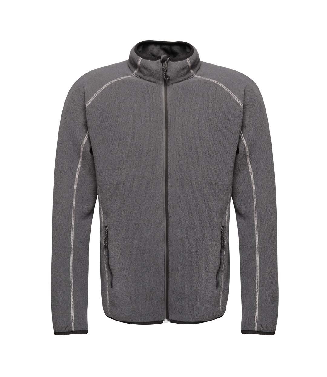 Regatta Mens Dreamstate Mini Honeycomb Fleece Jacket (Seal Grey) - UTPC3631