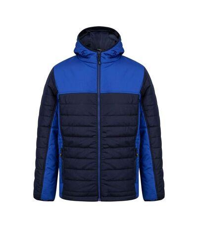Finden & Hales Mens Contrast Padded Jacket (Navy/Royal Blue) - UTPC4174