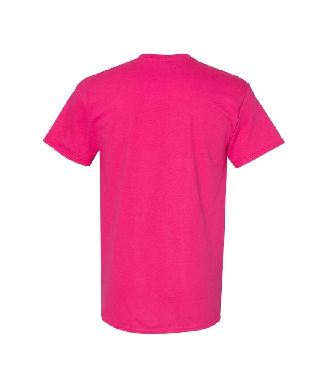 Gildan Mens Heavy Cotton Short Sleeve T-Shirt (Pack Of 5) (Heliconia) - UTBC4807
