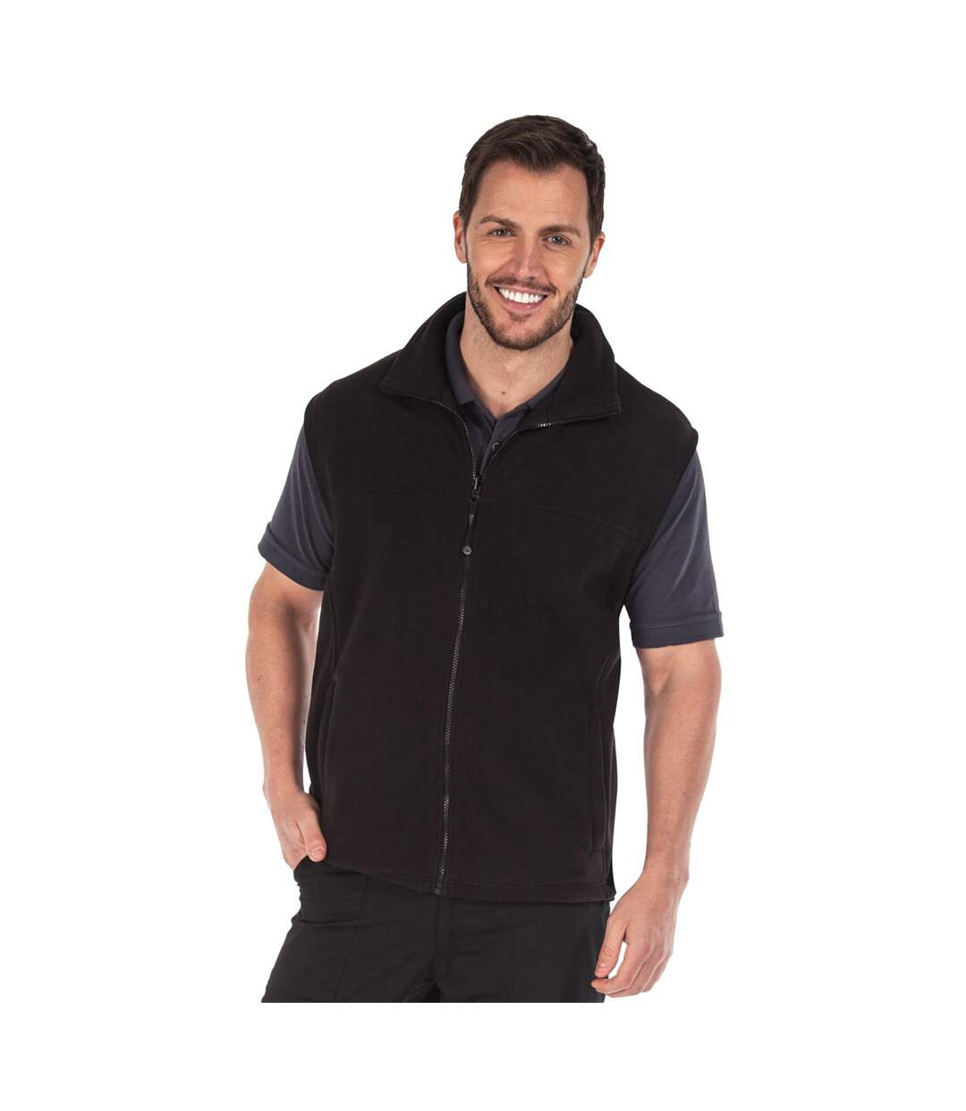 Regatta Haber II Full-Zip Bodywarmer Fleece Anti-Pill Jacket (250 GSM) (Black) - UTBC819