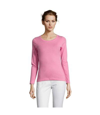 SOLS Womens/Ladies Majestic Long Sleeve T-Shirt (Orchid Pink) - UTPC314