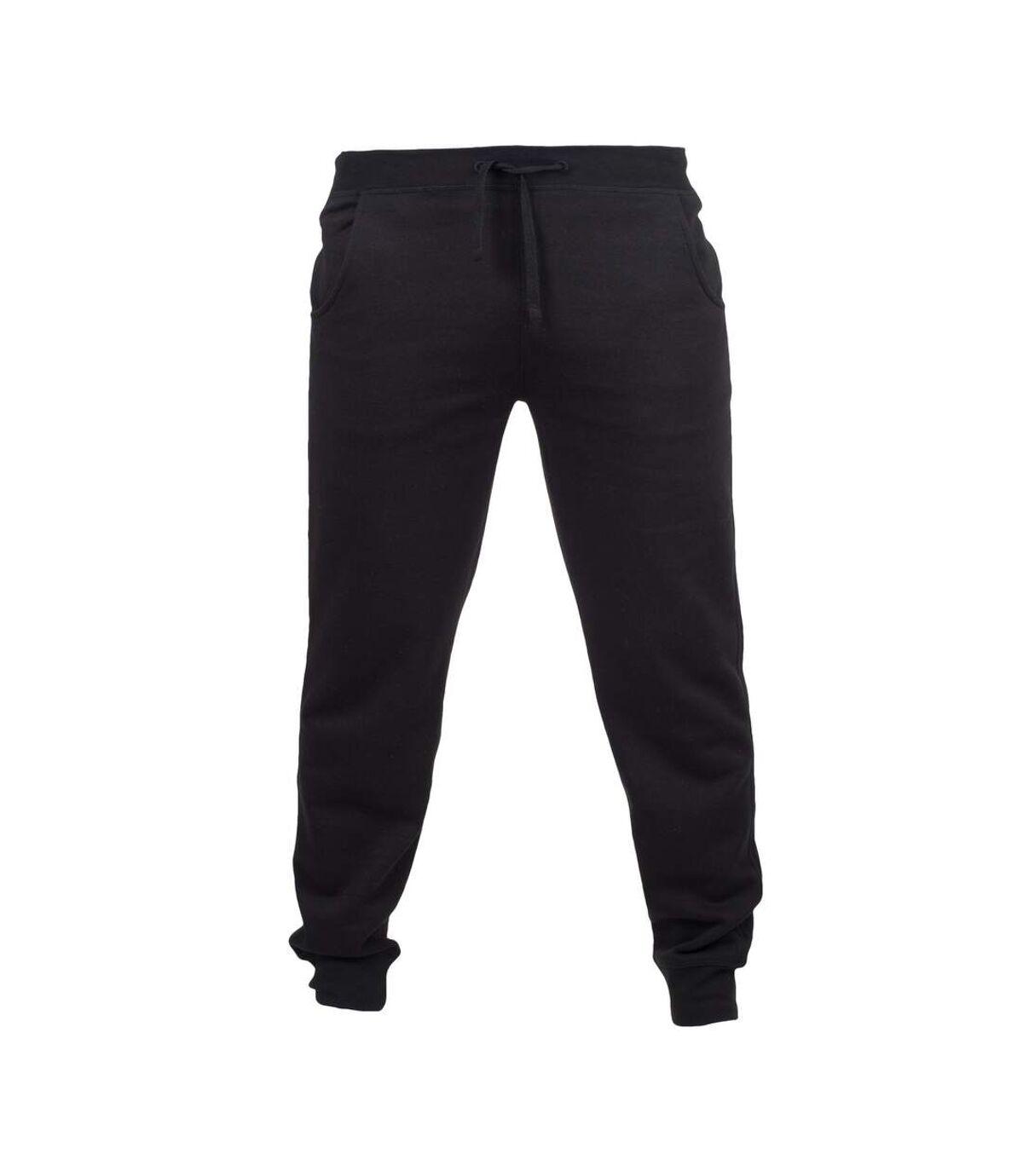 Skinnifit Mens Slim Cuffed Jogging Bottoms/Trousers (Black) - UTRW4743