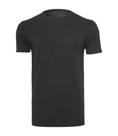 Build Your Brand Mens Light Round Neck Short Sleeve T-Shirt (Black) - UTRW5684