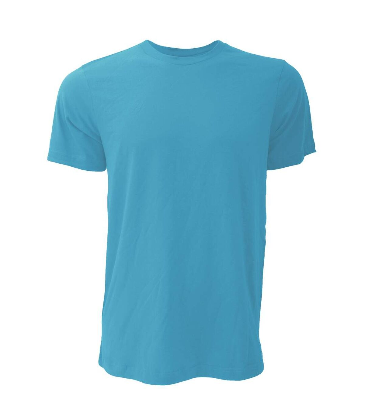 Canvas Unisex Jersey Crew Neck T-Shirt / Mens Short Sleeve T-Shirt (Heather Aqua) - UTBC163