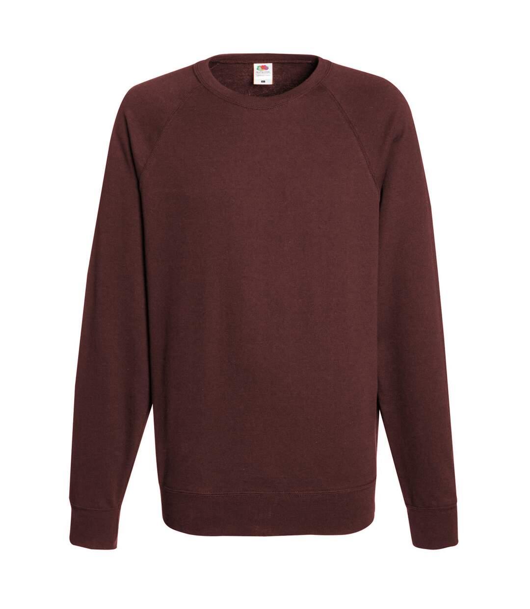 Fruit Of The Loom Mens Lightweight Raglan Sweatshirt (240 GSM) (Bottle Green) - UTBC2653