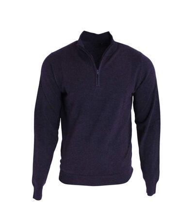 Premier Mens 1/4 Zip Neck Knitted Sweater (Navy) - UTRW5590