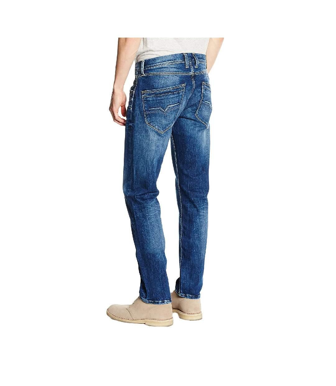 Jeans Regular Bleu Foncé Homme Pepe Jeans Spike