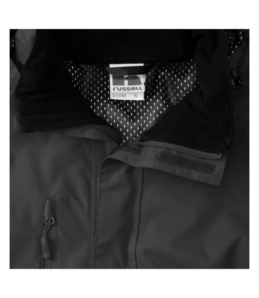 Jerzees Colours Mens Premium Hydraplus 2000 Water Resistant Jacket (Titanium) - UTBC564
