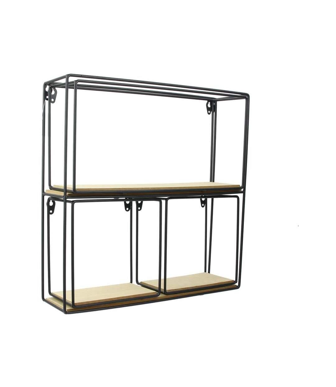 Etagère 4 éléments en bois et métal Factory