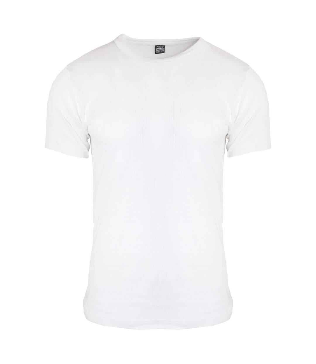 FLOSO - T-shirt thermique à manches courtes (en viscose) - Homme (Blanc) - UTTHERM108