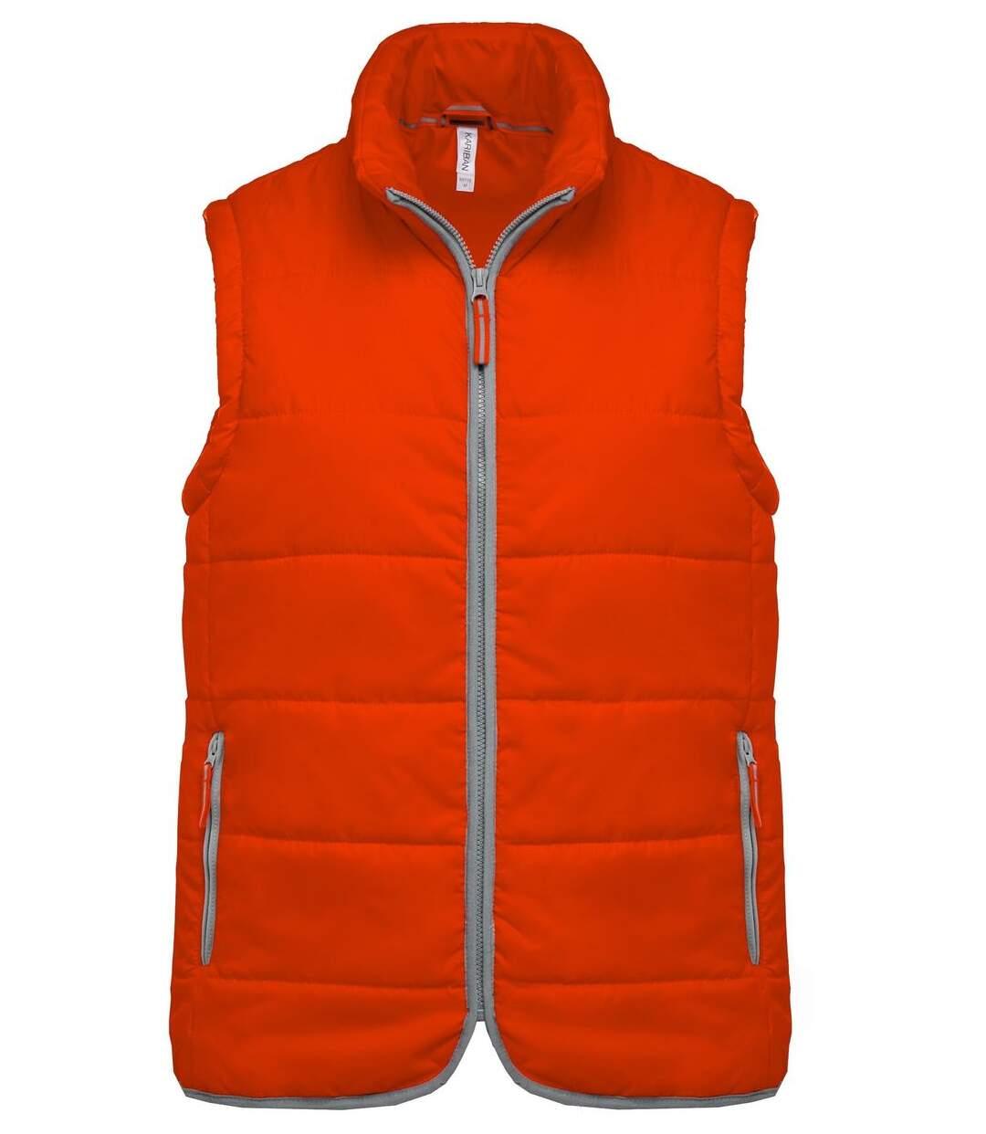Doudoune sans manches - K6116 - orange - bodywarmer matelassé