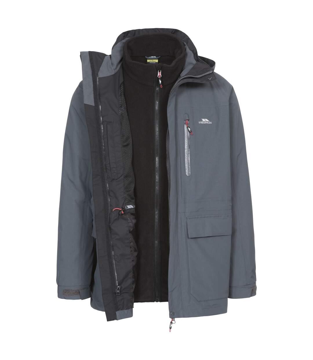 Trespass Mens Edgewater II 3 In 1 Waterproof Jacket (Carbon) - UTTP3772