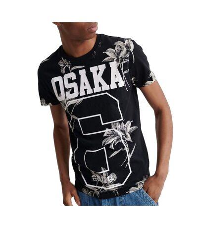 T-Shirt noir homme Superdry Super 5'S