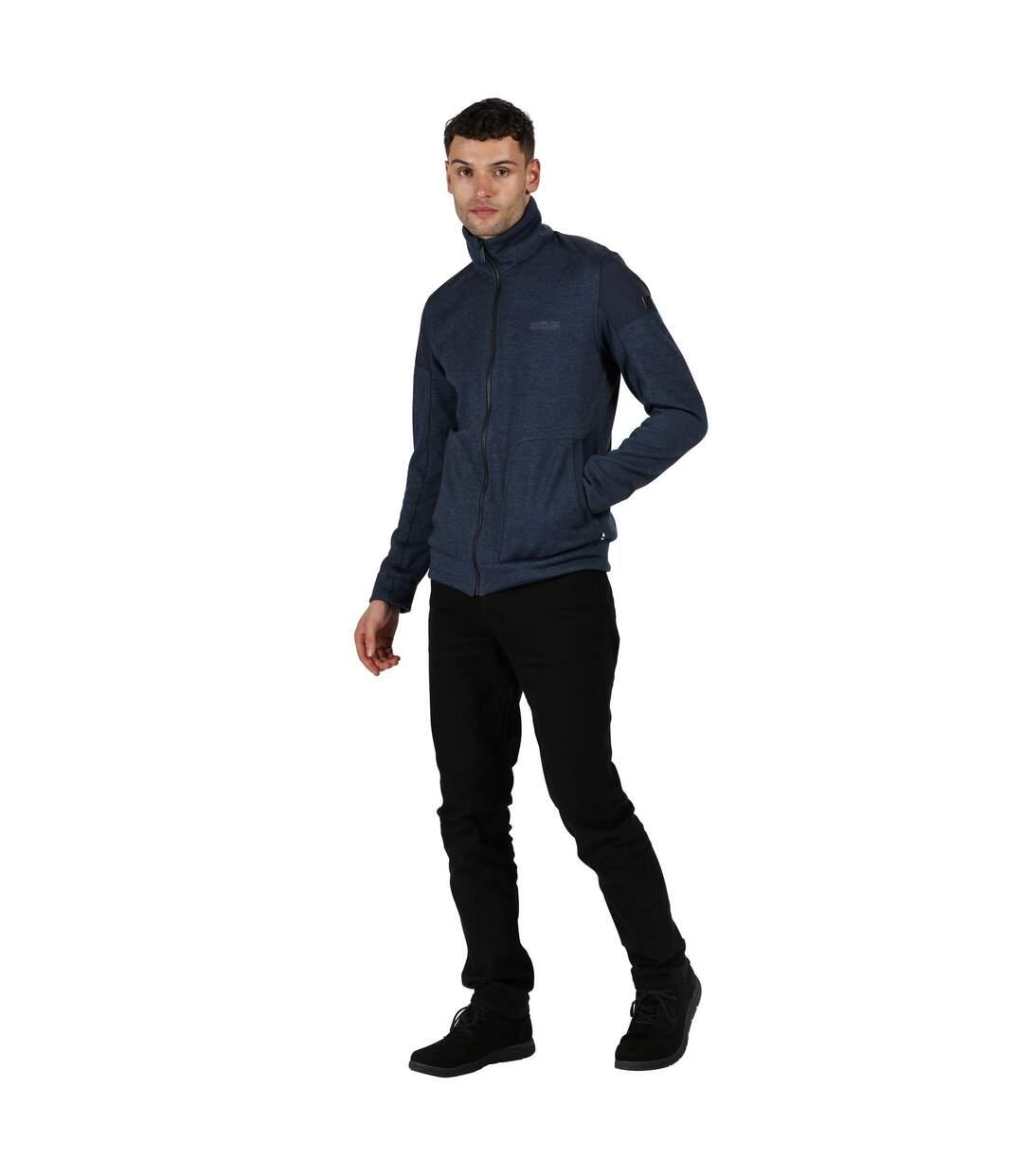 Regatta Mens Carlyle Full Zip Heavyweight Fleece (Dark Denim/Navy) - UTRG4942