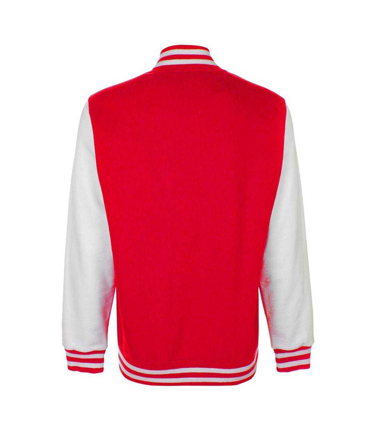 FDM Unisex Varsity / University Jacket (Contrast Sleeves) (Navy/Heather Grey) - UTBC2029