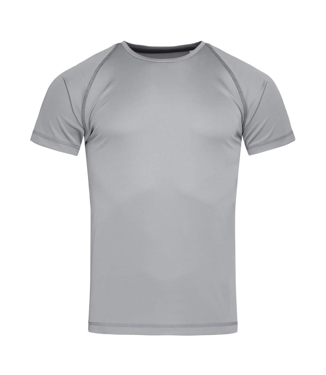 Stedman Mens Active Raglan T-Shirt (Silver Grey) - UTAB459
